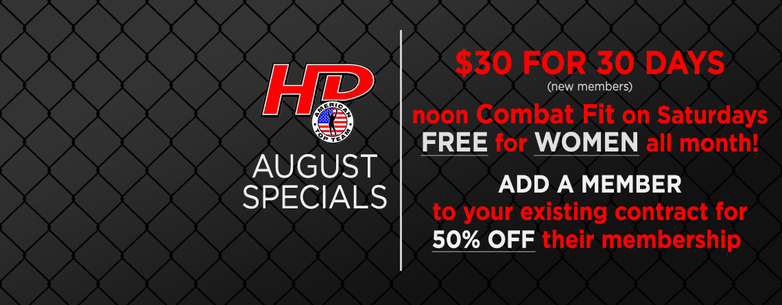 Check out our August Specials!