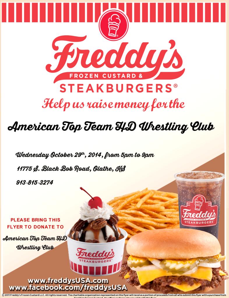 ATTHD Wrestling Club Fundraiser at Freddy's