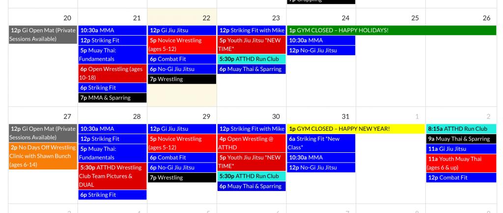 ATTHDHolidaySchedule
