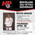 Seminar with 6th Degree Jiu Jitsu Black Belt Royce Gracie!