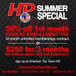 Summer Specials at ATTHD!